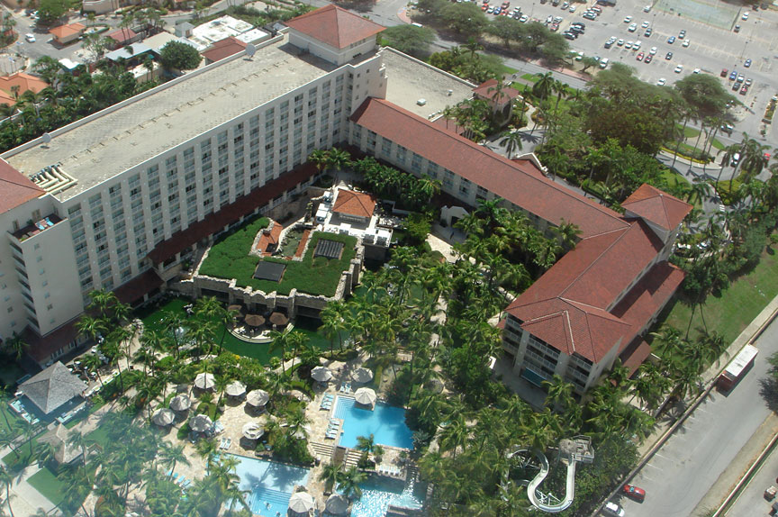 You See How The Hotel Structure Wraps Around Pools Bars And Restaurants In Lower Left Corner Is A Favorite Bar Of Mine