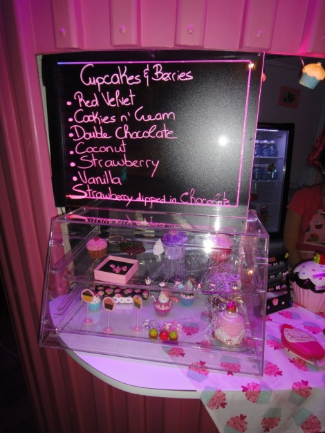 Cupcake menu, Paseo Herencia Mall