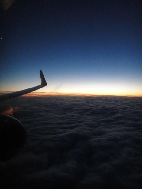 Dusk from 35,000 feet.