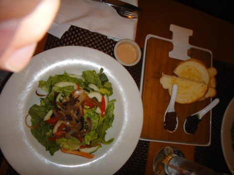 Mixed Green Salad, The Kitchen, Aruba.