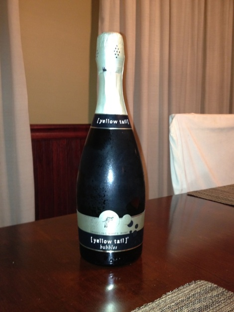 "Bottle of Yellow Tail ""Bubbly"""