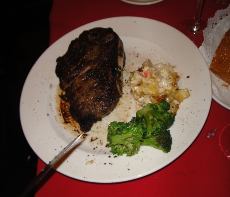 24oz. New York Strip at Del Frisco, Philadelphia.