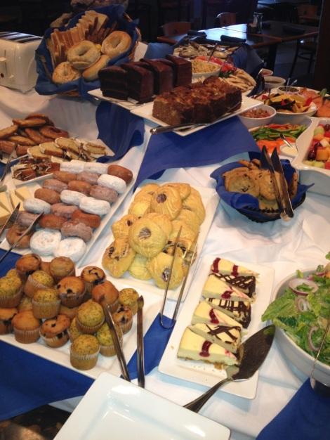 Dessert selection at Riverstone Cafe Sunday Brunch.