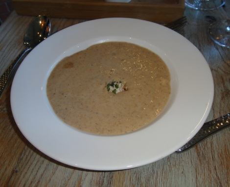 Mushroom soup at White Dog Cafe.