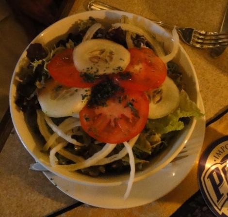 Garden Salad at Amadeus, Aruba