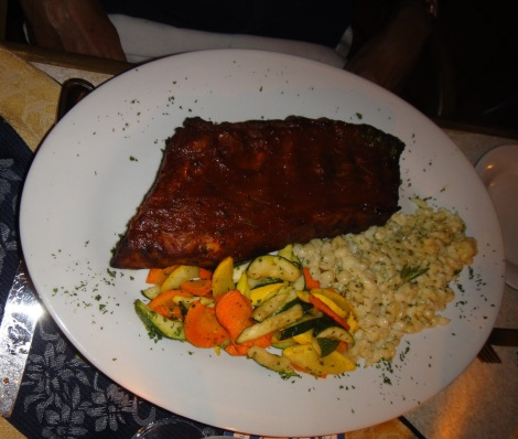 Rack of Ribs at Amadeus, Aruba.