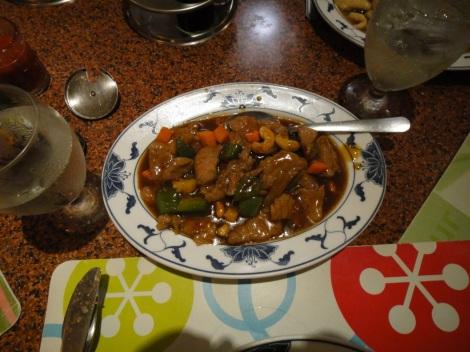 Kung Po Pork at Hung Paradise, Aruba.