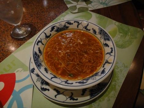 Chinese Tomato Soup at Hung Paradise, Aruba.