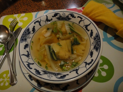 Wonton Soup at Hung Paradise, Aruba.