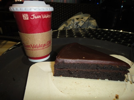 Chocolate Cake at Juan Valdez, Aruba.