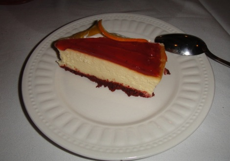 Cheesecake at Scabeche, Aruba.