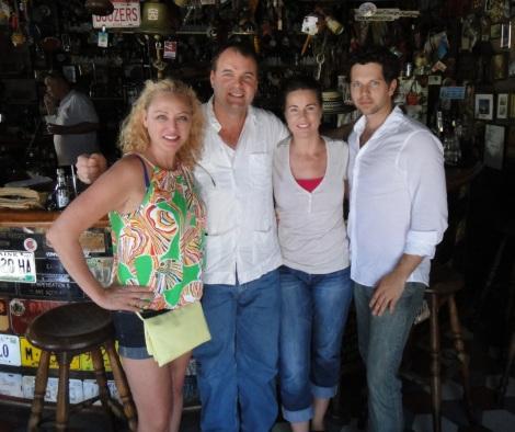Friends at Charlie's Bar, Aruba.