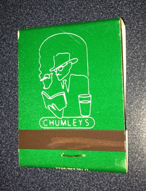 Chumley's Matchbook, circa mid-1990's.