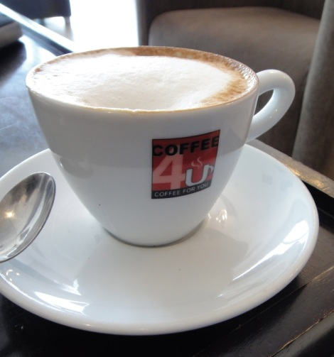 Cappuccino at Coffee 4U, Aruba.