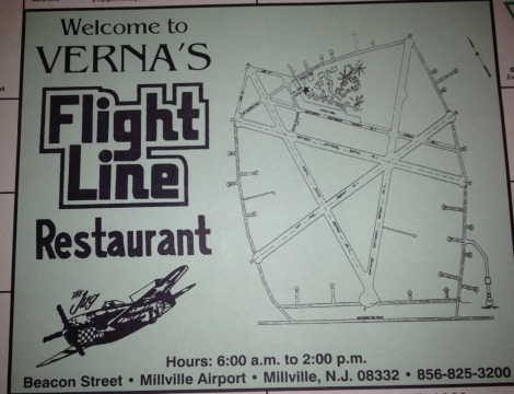 Flight Line Restaurant, placemat.