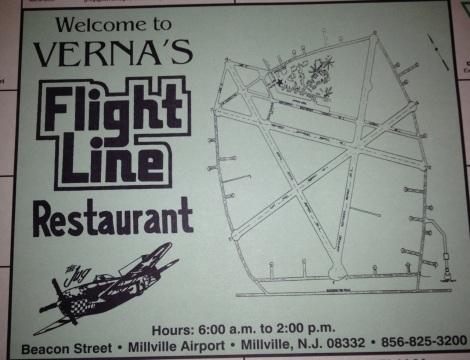 Flight Line Restaurant, placemat.