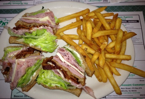 Flight Line Restaurant club sandwich.