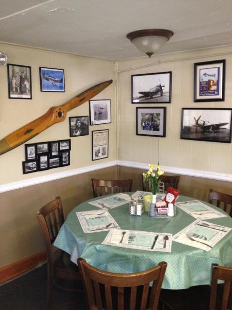 Flight Line Restaurant Interior.