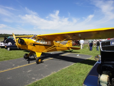 Piper Cub at Wings & Wheels airshow.