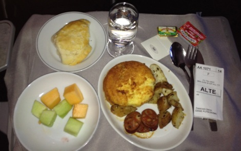 Breakfast on American Airlines flight from PHL to MIA.