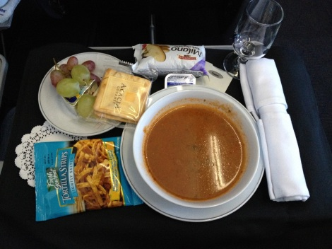 American Airlines tortilla soup.
