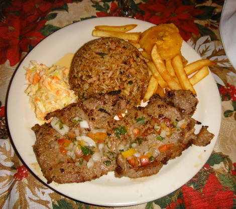 Carne a la plancha at Rincón Criollo, Savaneta, Aruba.