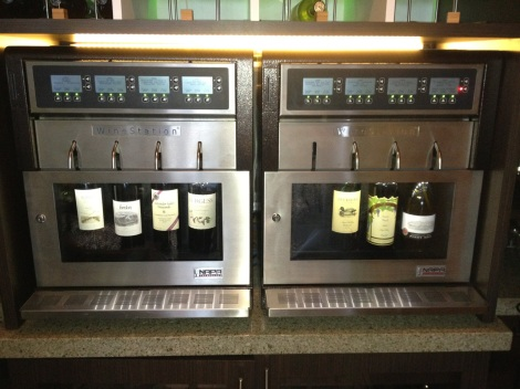 Wine Station vino dispenser.