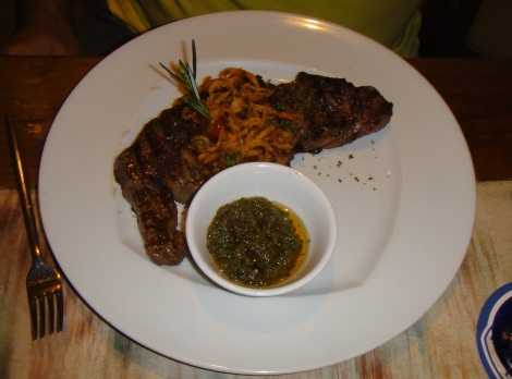 Yemanja, Aruba serves this rib eye.