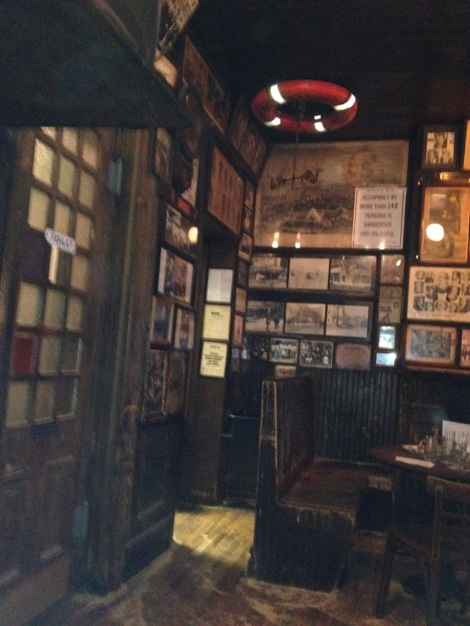Interior corner of McSorley's Old Ale House.