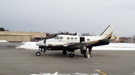 King Air at Brandywine Airport (KOQN).