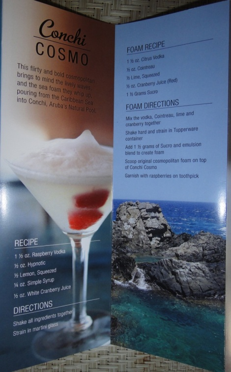 """Signature Drink Aruba, """"Conchi Cosmo."""""""