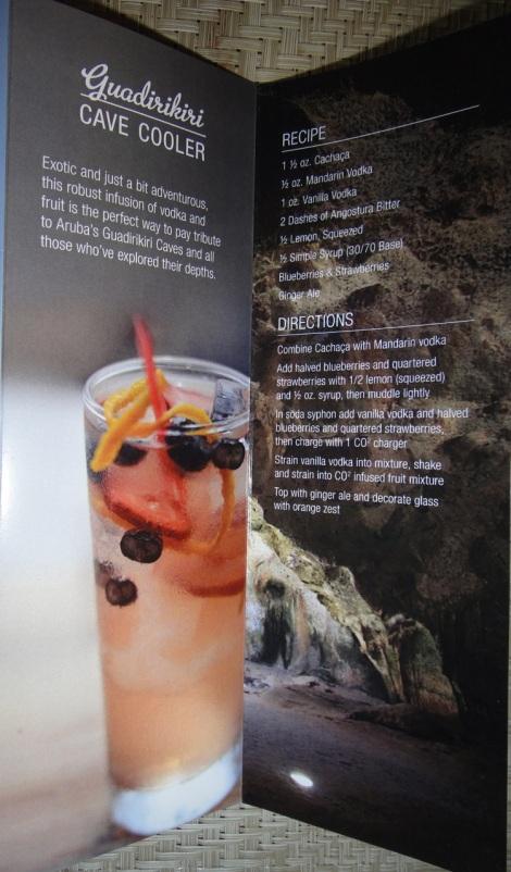 """Aruba Signature Drink, """"Cave Cooler."""""""