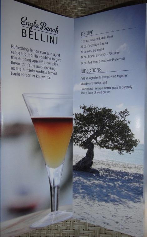 """Aruba Signature Drink, """"Bellini"""""""