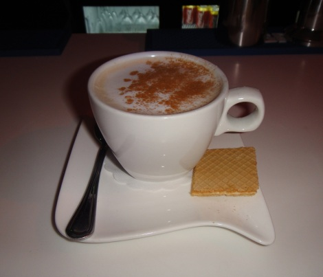 Cappuccino at Piazza Italia located in the Palm Beach Plaza Mall, Aruba, DWI.
