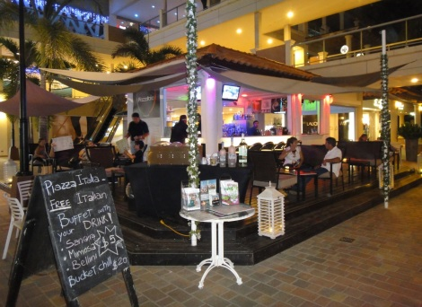 Piazza Italia located in the Palm Beach Plaza Mall, Aruba, DWI.