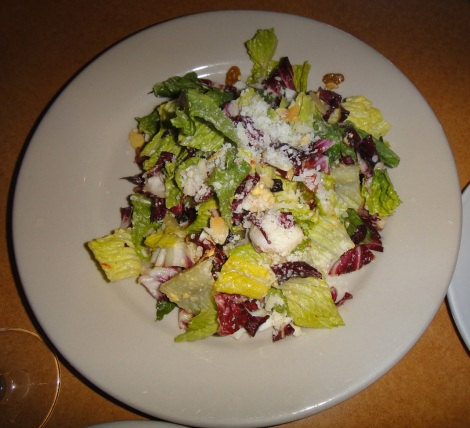 Chopped salad with all the good stuff at La Porta, Media, PA.