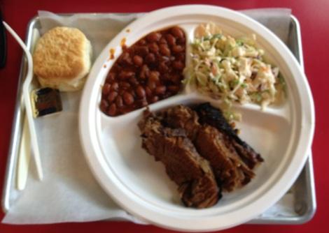 Brisket platter at Hickory Kitchen, Doylestown, PA.