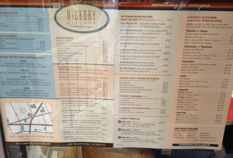 Menu at Hickory Kitchen, Doylestown, PA.