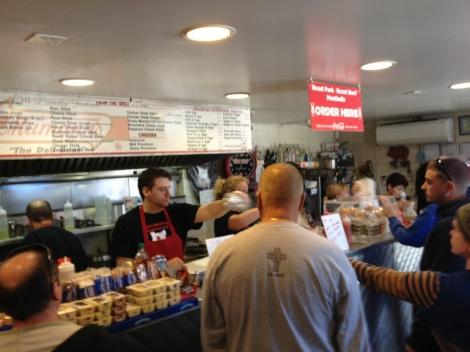 Inside John's Roast Pork, Philadelphia.