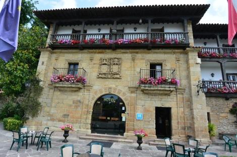 Facade of Hotel Museo Los Infantes, Santillana del Mar, Spain.