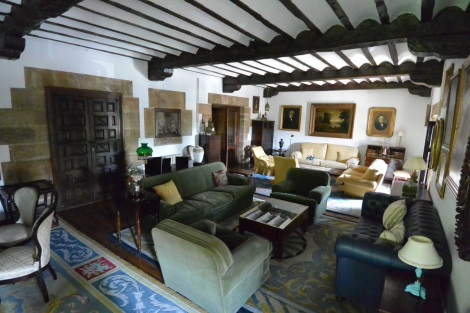One of the lounges at Hotel Museo Los Infantes, Santillana del Mar.