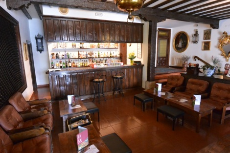 Bar on ground floor at Hotel Museo Los Infantes, Santillana del Mar, Spain.