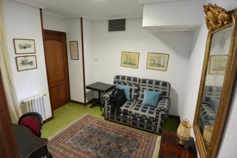 Ante-room in junior suite at Hotel Museo Los Infantes, Santillana del Mar, Spain.