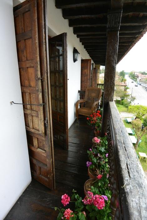 Balcony at Hotel Museo Los   Infantes, Santillana del Mar, Spain.
