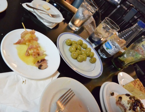 More tapas at a local joint in Belchite, Spain.