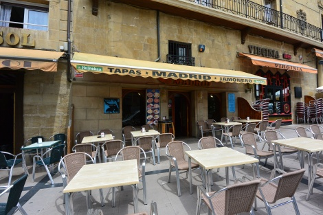 Bar/restaurant Madrid in the town of Haro, Spain.
