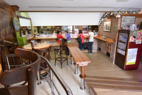 Interior of bar/restaurant Madrid in the town of Haro, Spain.