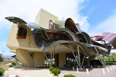 Frank Gehry designed Hotel Marques de Riscal, Elciego, Spain.
