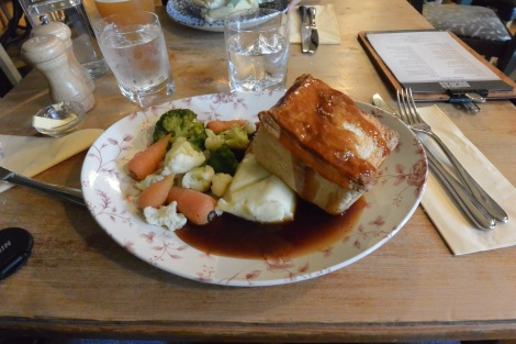Chicken and Windsor Ham Pie at the Duchess of Windsor Pub, Windsor, England.