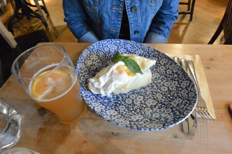 Smoked haddock with a Blue Moon beer on the side at The Duchess of Cambridge, Windsor, England.